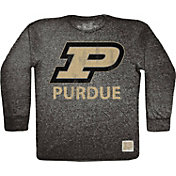 Original Retro Brand Men's Purdue Boilermakers Tri-Blend Long Sleeve Black T-Shirt