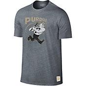 Original Retro Brand Men's Purdue Boilermakers Grey Retro Tri-Blend T-Shirt
