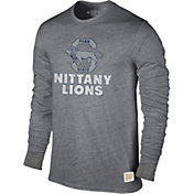 Original Retro Brand Men's Penn State Nittany Lions Grey Tri-Blend Long Sleeve T-Shirt