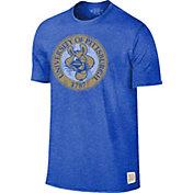 Original Retro Brand Men's Pitt Panthers Blue Mock Twist T-Shirt