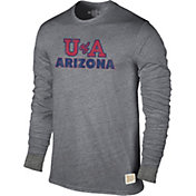Original Retro Brand Men's Arizona Wildcats Grey Tri-Blend Long Sleeve T-Shirt