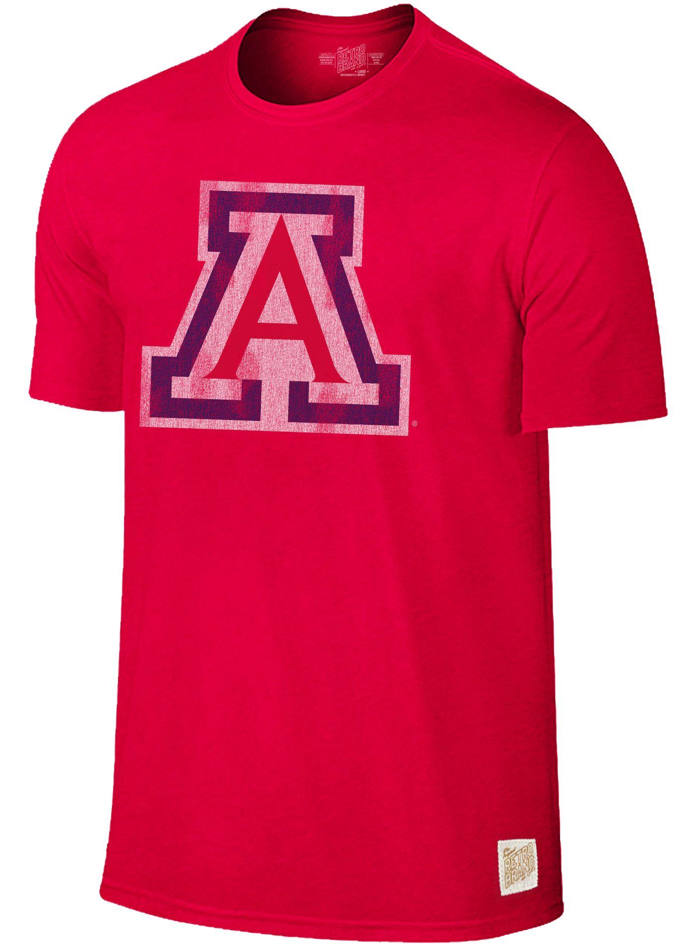Original Retro Brand Men's Arizona Wildcats Cardinal Dual Blend T-Shirt
