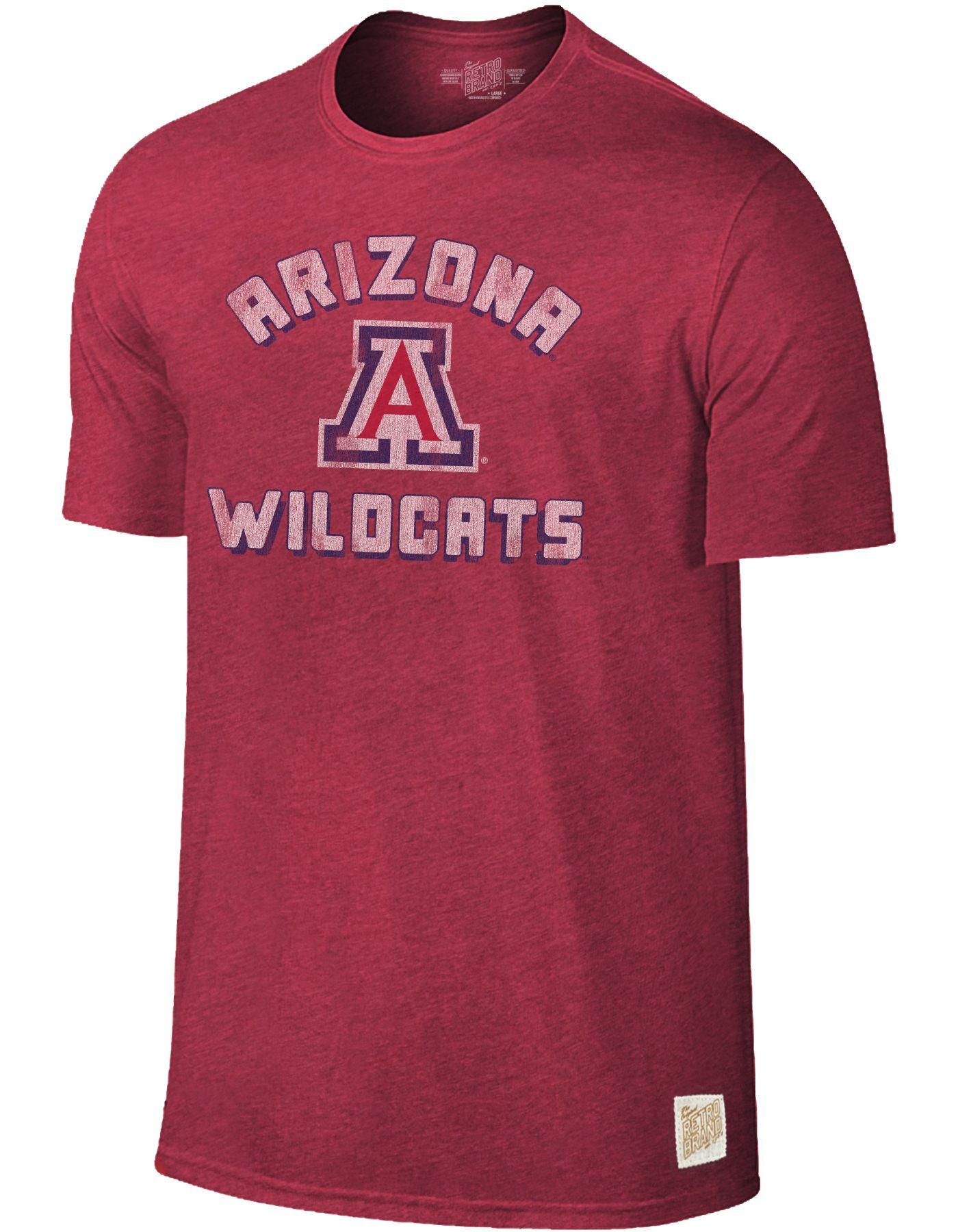 Original Retro Brand Men's Arizona Wildcats Cardinal Tri-Blend T-Shirt
