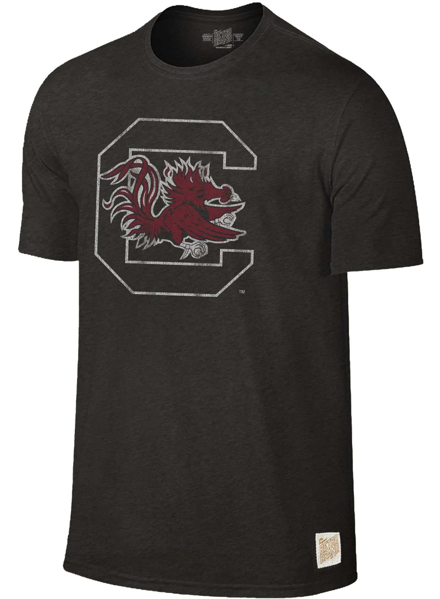 Original Retro Brand Men's South Carolina Gamecocks Dual Blend Black T-Shirt