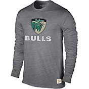 Original Retro Brand Men's South Florida Bulls Grey Tri-Blend Long Sleeve T-Shirt
