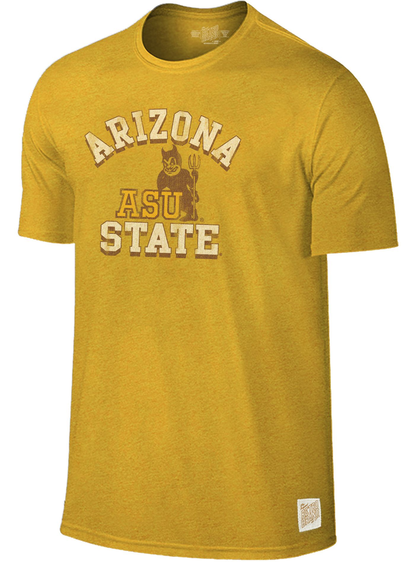 Original Retro Brand Men's Arizona State Sun Devils Gold Mock Twist T-Shirt