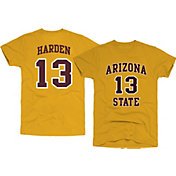 Original Retro Brand Men's Arizona State Sun Devils James Harden #13 Gold Basketball Jersey T-Shirt
