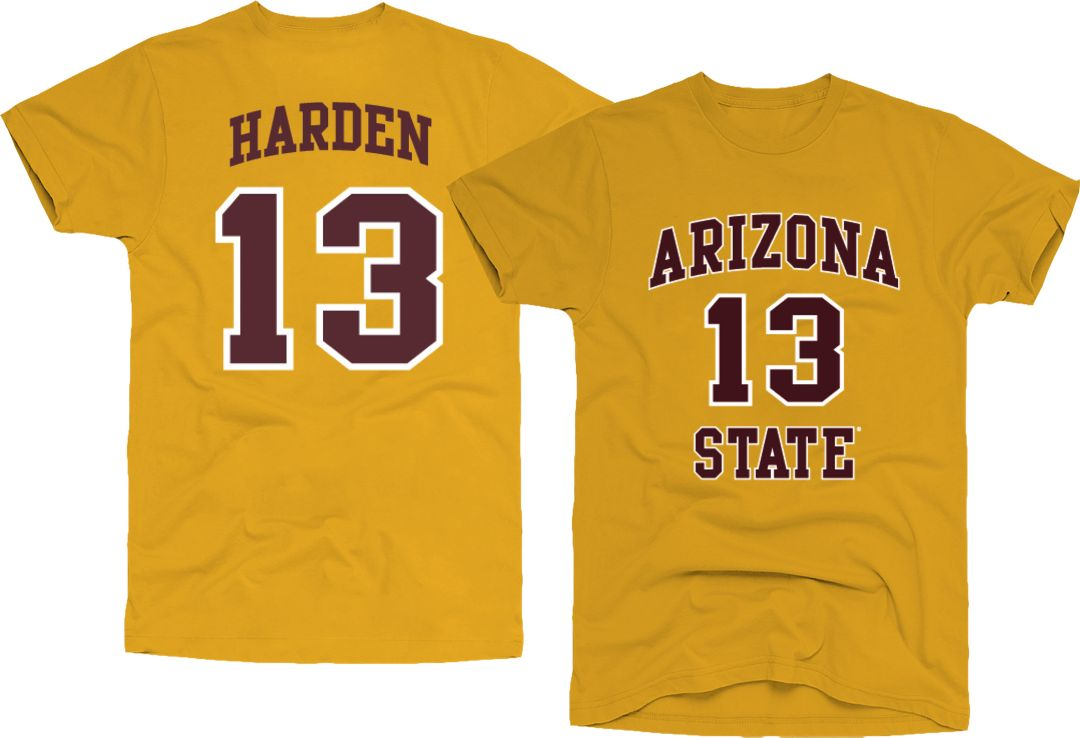 f4c573eeca5 Original Retro Brand Men's Arizona State Sun Devils James Harden #13 Gold  Basketball Jersey T
