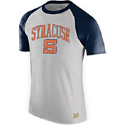 Original Retro Brand Men's Syracuse Orange Grey/Blue Raglan T-Shirt