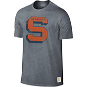 Original Retro Brand Men's Syracuse Orange Grey Retro Tri-Blend T-Shirt