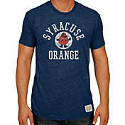 Original Retro Brand Men's Syracuse Orange Blue Tri-Blend Basketball T-Shirt