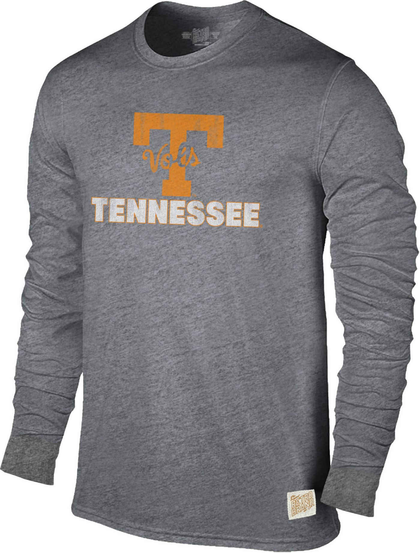 Original Retro Brand Men's Tennessee Volunteers Grey Tri-Blend Long Sleeve T-Shirt