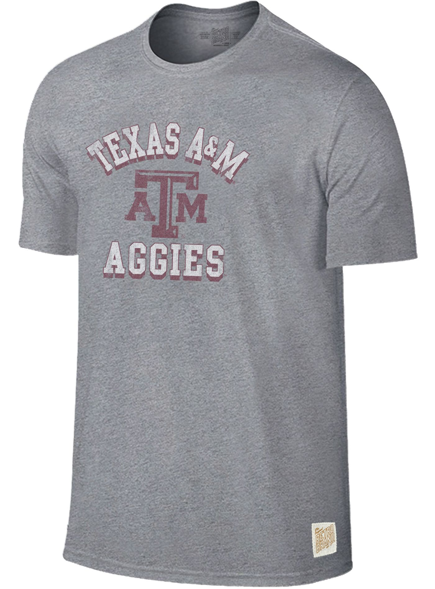 Original Retro Brand Men's Texas A&M Aggies Grey Mock Twist T-Shirt
