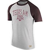 Original Retro Brand Men's Texas A&M Aggies Grey/Maroon Raglan T-Shirt