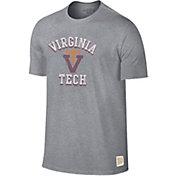Original Retro Brand Men's Virginia Tech Hokies Grey Mock Twist T-Shirt