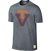 Original Retro Brand Men's Virginia Tech Hokies Grey Retro Tri-Blend T-Shirt