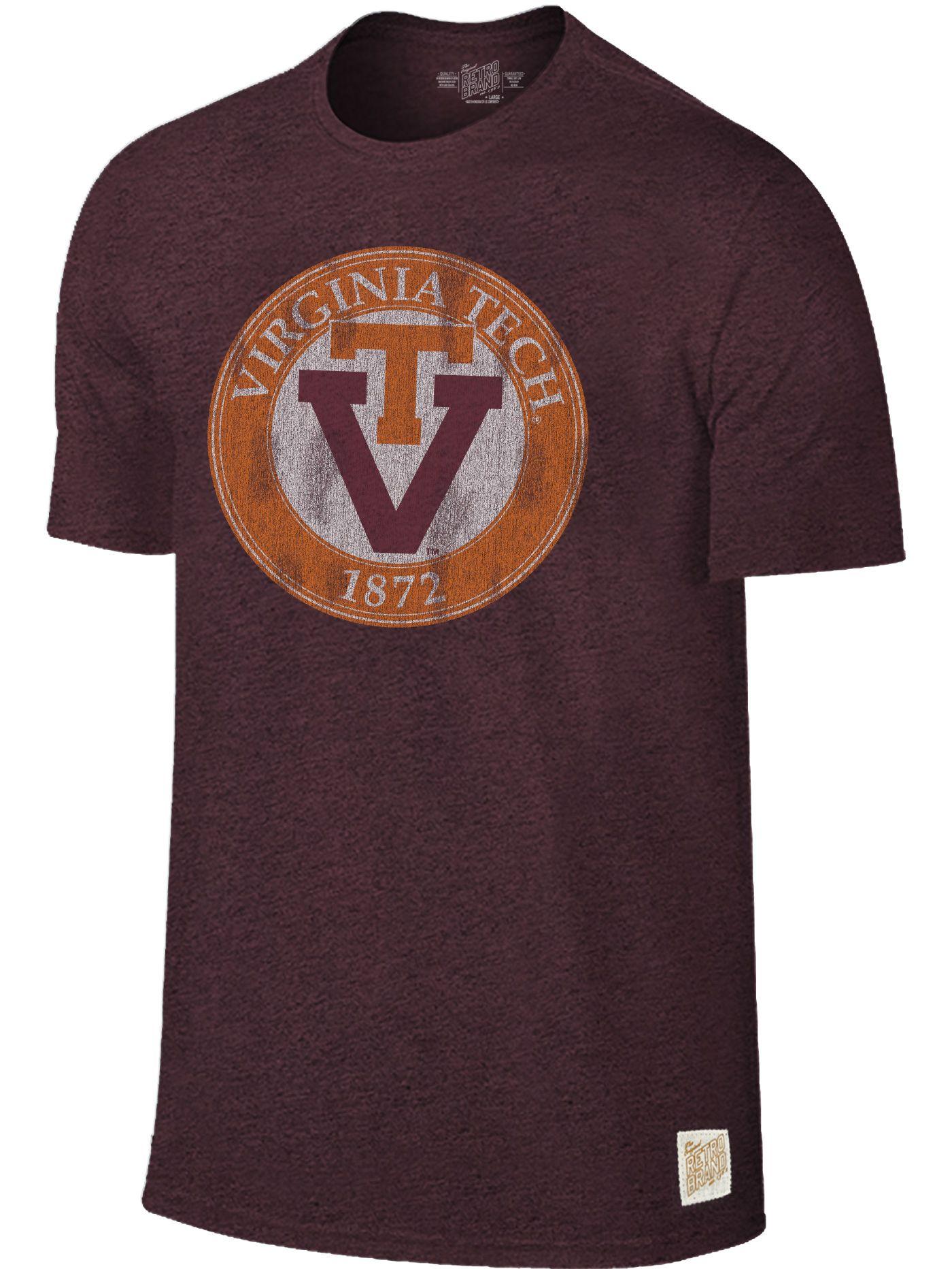 Original Retro Brand Men's Virginia Tech Hokies Maroon Mock Twist T-Shirt