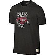 Original Retro Brand Men's Wisconsin Badgers Dual Blend Black T-Shirt