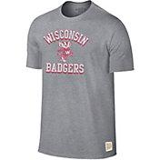 Original Retro Brand Men's Wisconsin Badgers Grey Mock Twist T-Shirt
