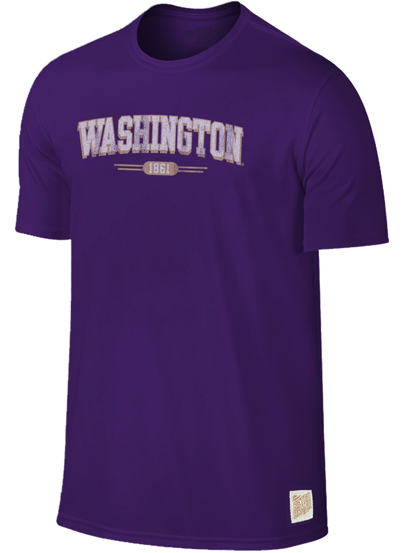 Original Retro Brand Men's Washington Huskies Purple Slub T-Shirt