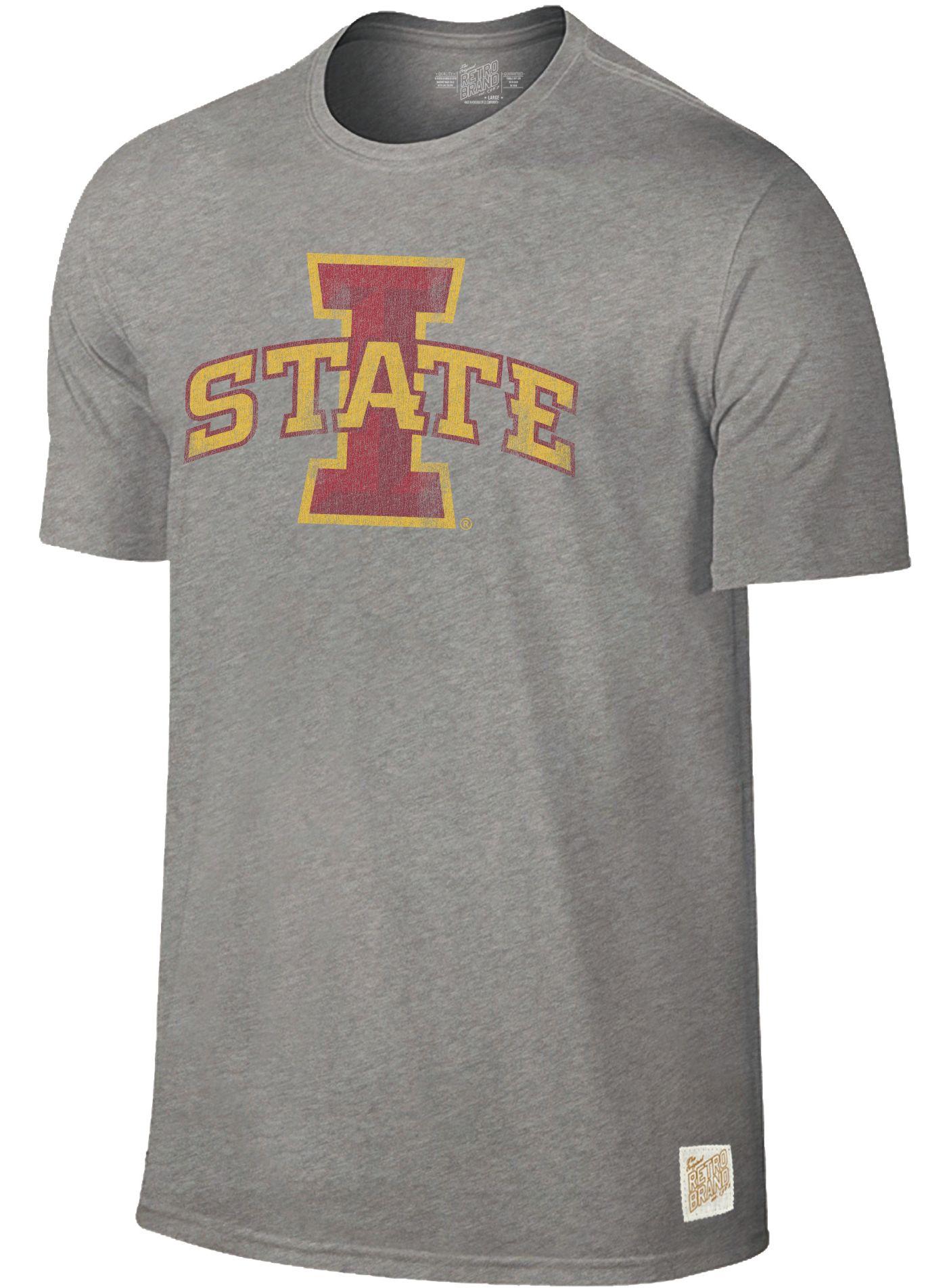 Original Retro Brand Men's Iowa State Cyclones Grey Dual Blend T-Shirt
