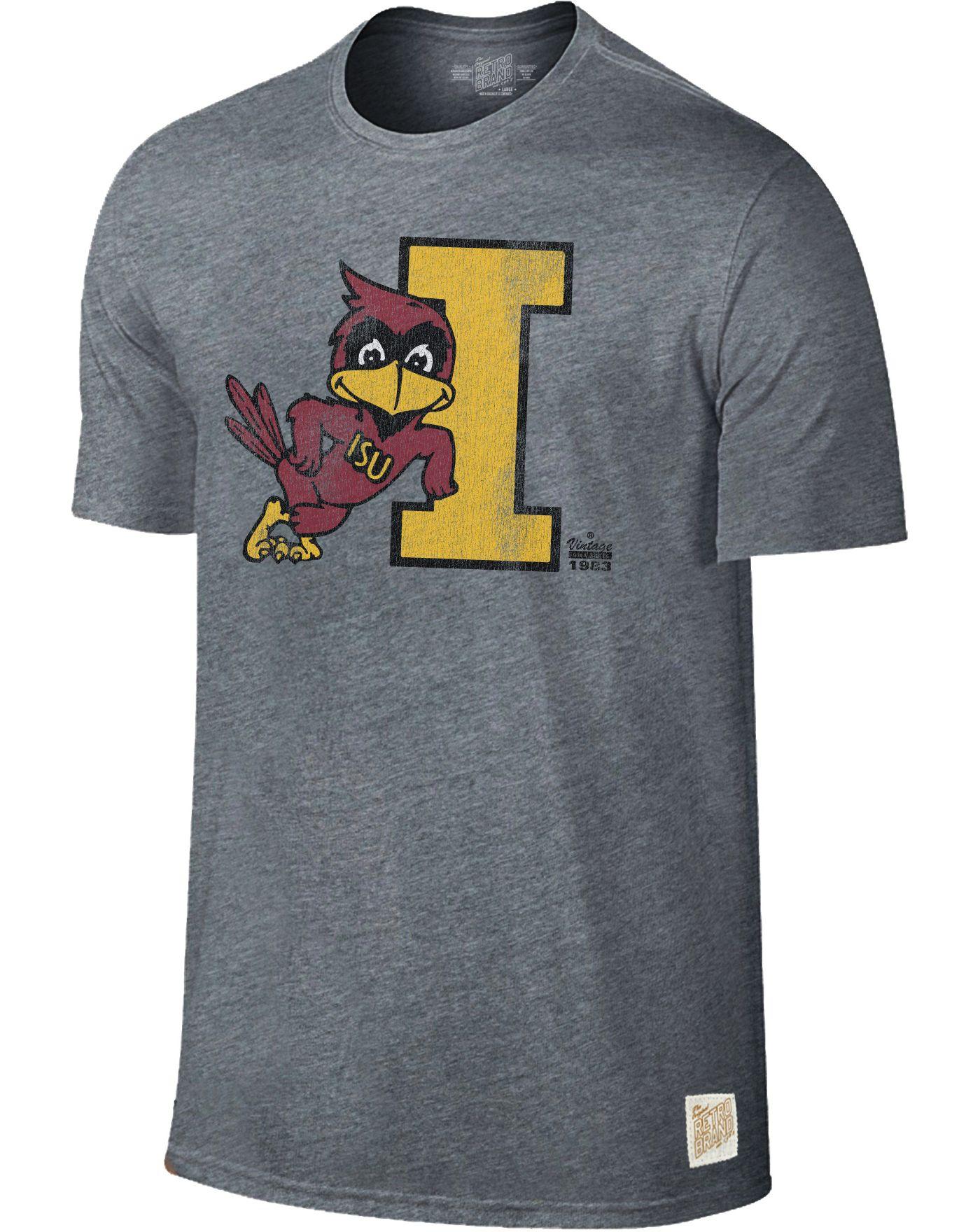 Original Retro Brand Men's Iowa State Cyclones Grey Retro Tri-Blend T-Shirt