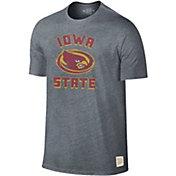 Original Retro Brand Men's Iowa State Cyclones Grey Tri-Blend T-Shirt