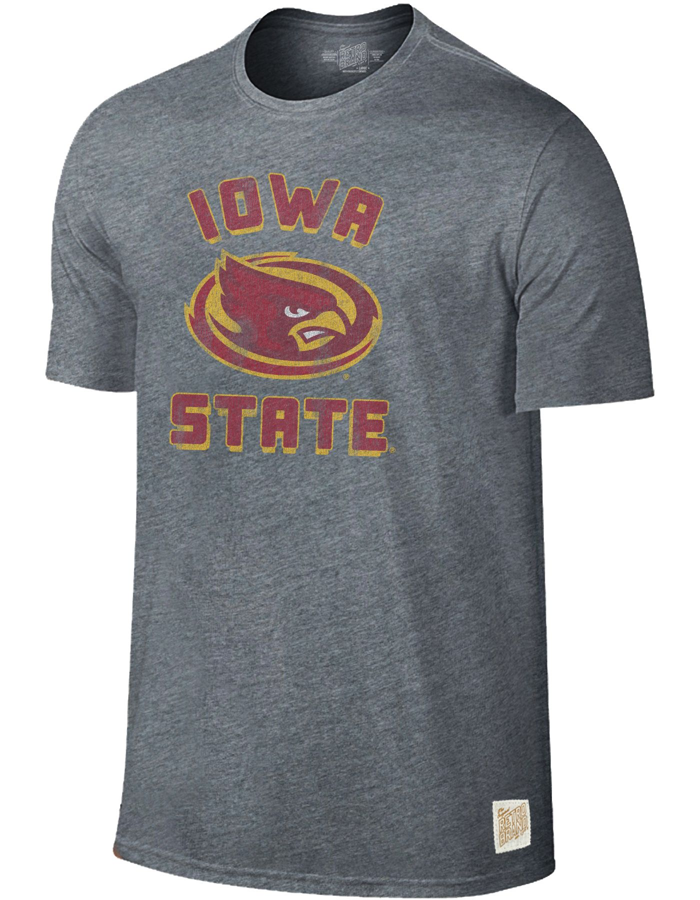Original Retro Brand Men's Iowa State Cyclones Grey Tri-Blend T-Shirt