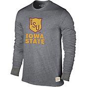 Original Retro Brand Men's Iowa State Cyclones Grey Tri-Blend Long Sleeve T-Shirt