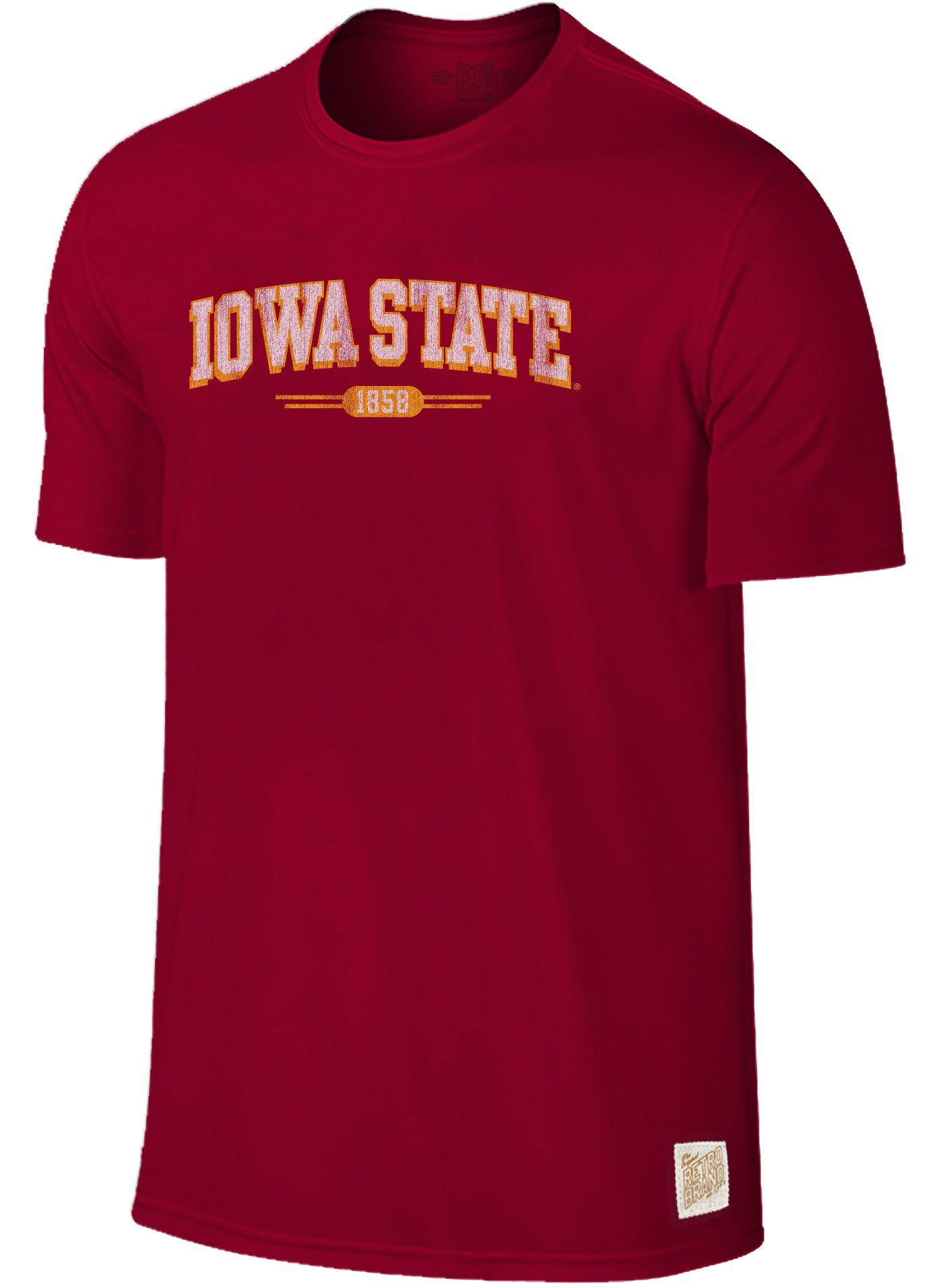 Original Retro Brand Men's Iowa State Cyclones Cardinal Slub T-Shirt