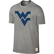 Original Retro Brand Men's West Virginia Mountaineers Grey Dual Blend T-Shirt