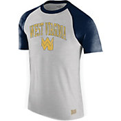 Original Retro Brand Men's West Virginia Mountaineers Grey/Blue Raglan T-Shirt
