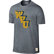 Original Retro Brand Men's West Virginia Mountaineers Grey Retro Tri-Blend T-Shirt