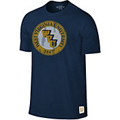 Original Retro Brand Men's West Virginia Mountaineers Blue Mock Twist T-Shirt