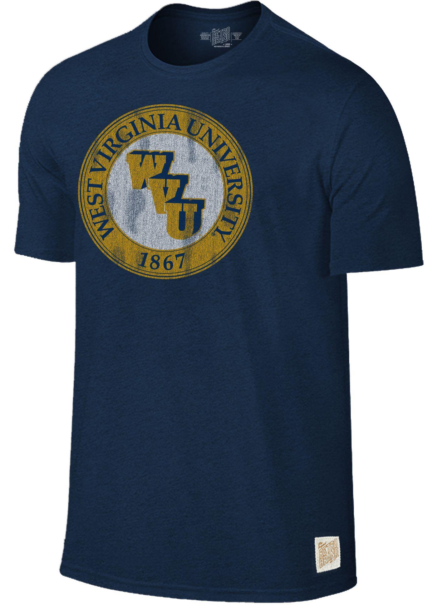 Original Retro Brand Men's West Virginia Mountaineers Blue Mock Twist T-Shirt