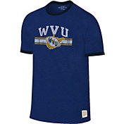 Original Retro Brand Men's West Virginia Mountaineers Blue Ringer T-Shirt