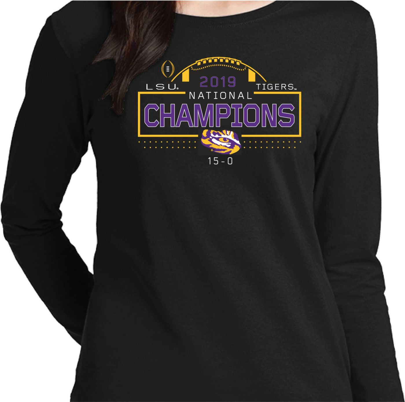 The Victory Women's 2019 National Champions LSU Tigers Long Sleeve T-Shirt