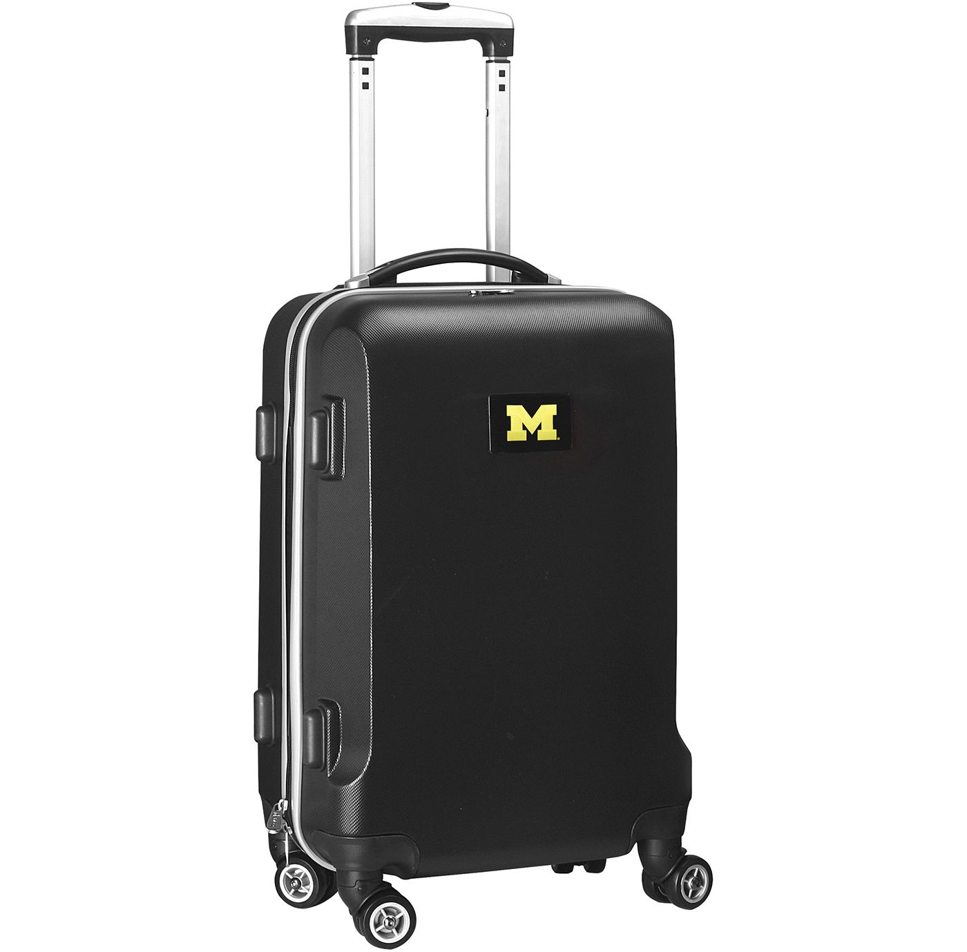 Mojo Michigan Wolverines Hard Case Black Carry-On