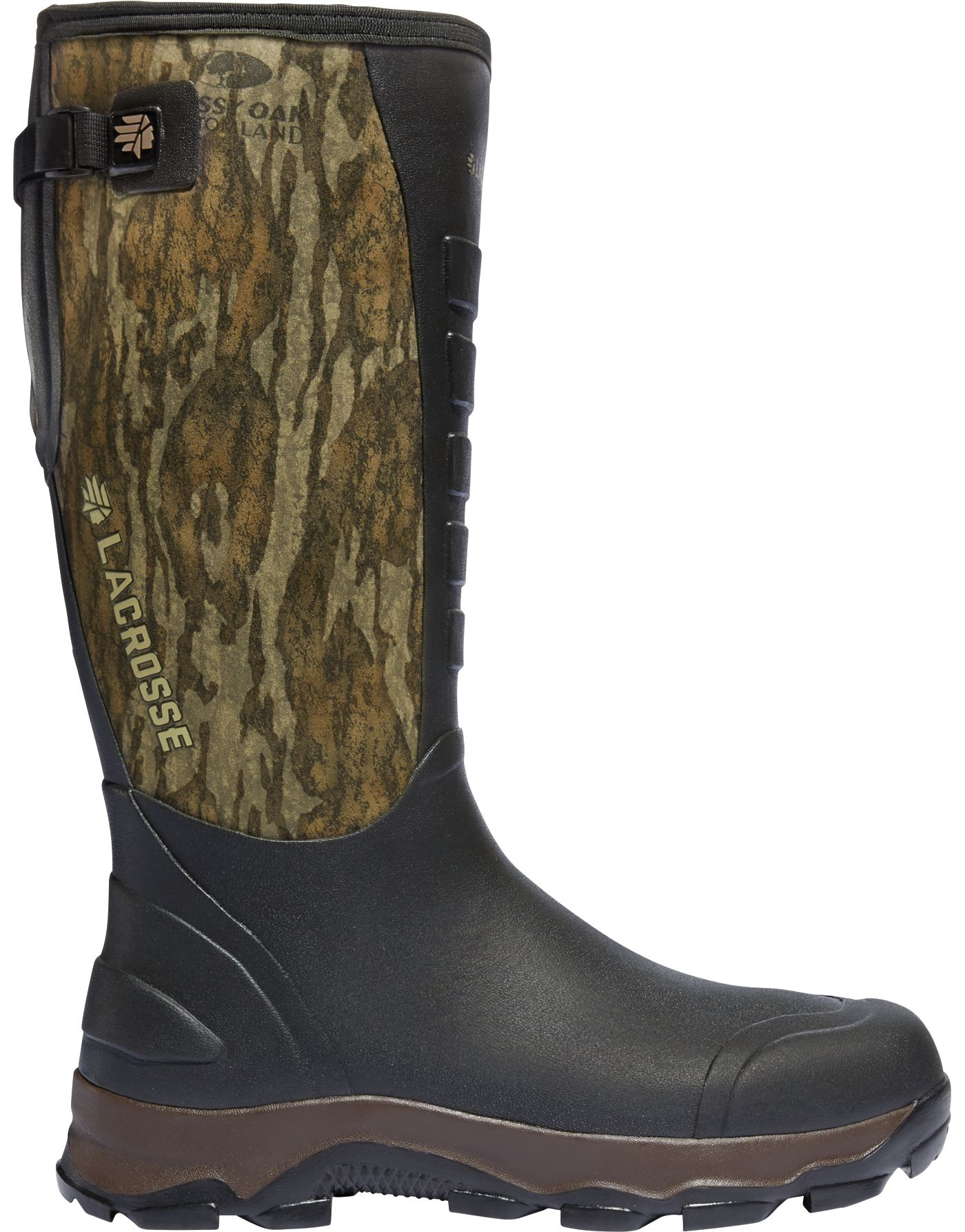 LaCrosse Men's 4xAlpha 16'' Mossy Oak Bottomland 7.0mm Rubber Hunting Boots