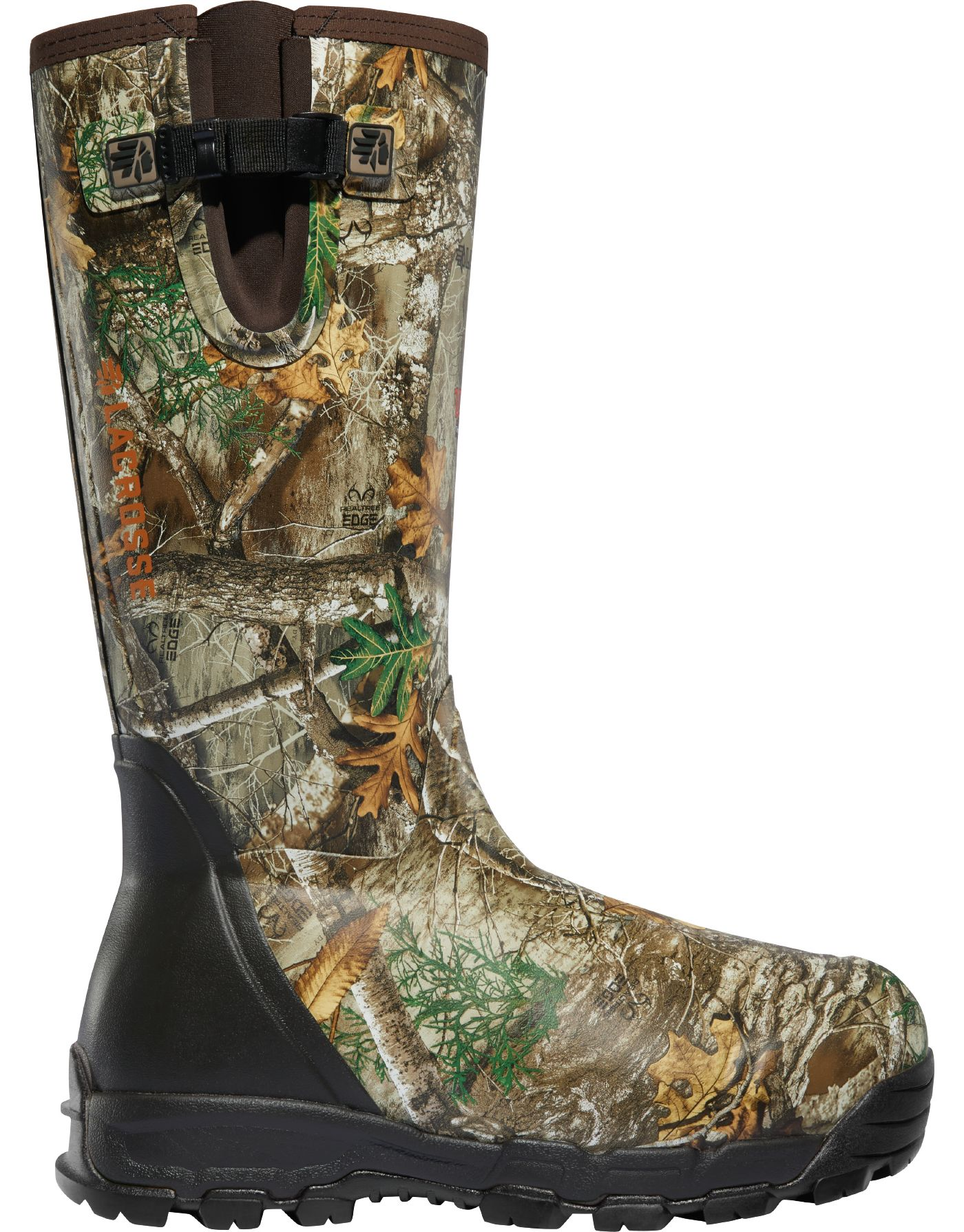 LaCrosse Men's Alphaburly Pro Side-Zip 18'' Realtree Edge 1000g Rubber Hunting Boots