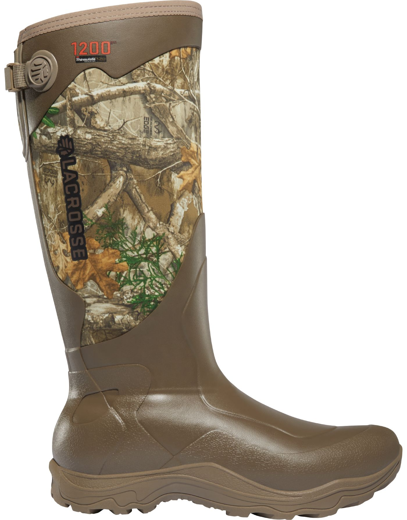 LaCrosse Men's Alpha Agility 17'' Realtree Edge 1200g Rubber Hunting Boots