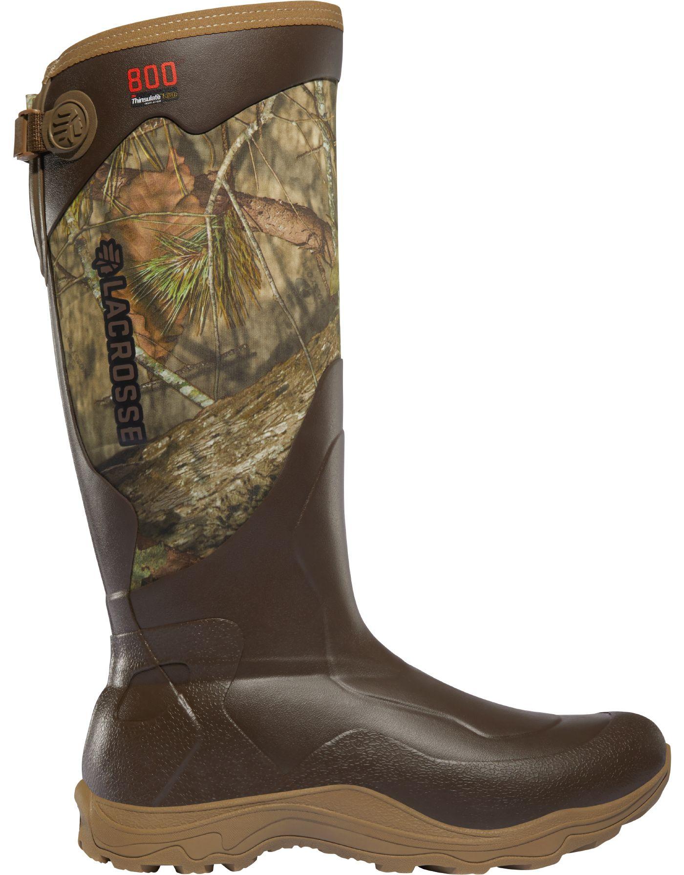 LaCrosse Men's Alpha Agility 17'' Mossy Oak Break-Up Country 800g Rubber Hunting Boots