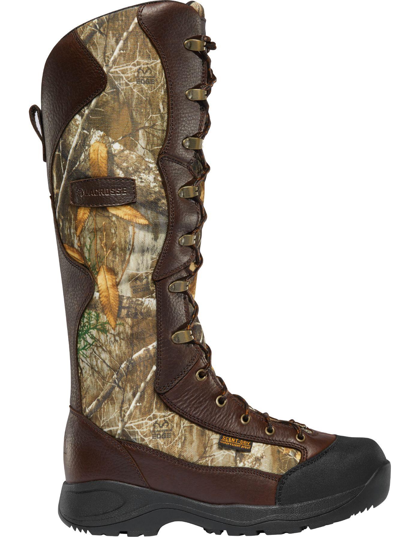 LaCrosse Men's Venom 18'' Realtree Edge Snakeproof Hunting Boots