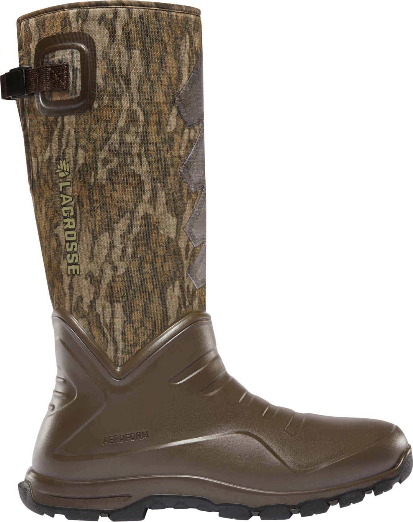 LaCrosse Men's Aerohead Sport Mossy Oak Bottomland 7mm Rubber Hunting Boots