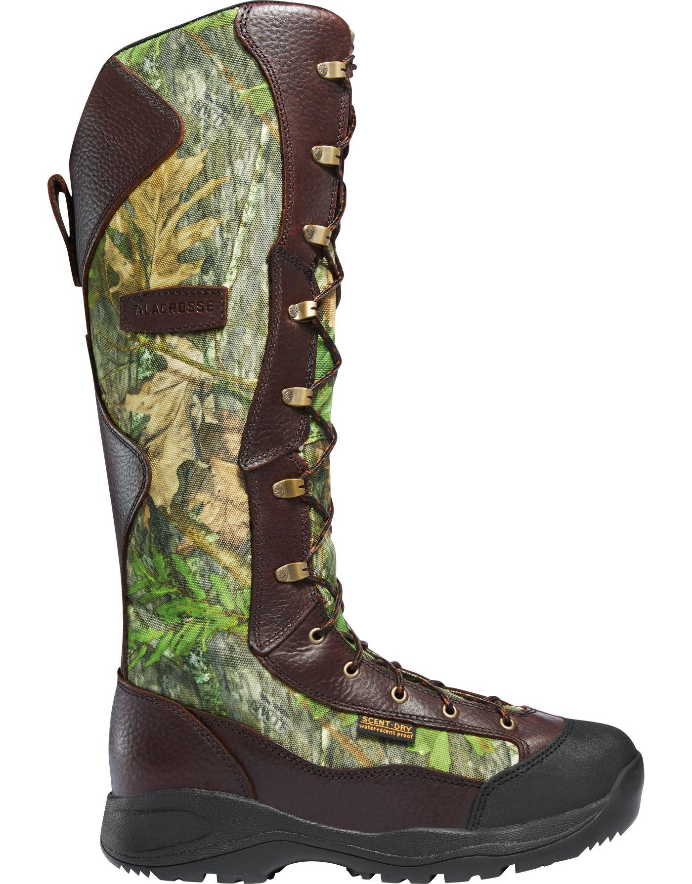LaCrosse Men's Venom 18'' NWTF Mossy Oak Waterproof Snake Boots