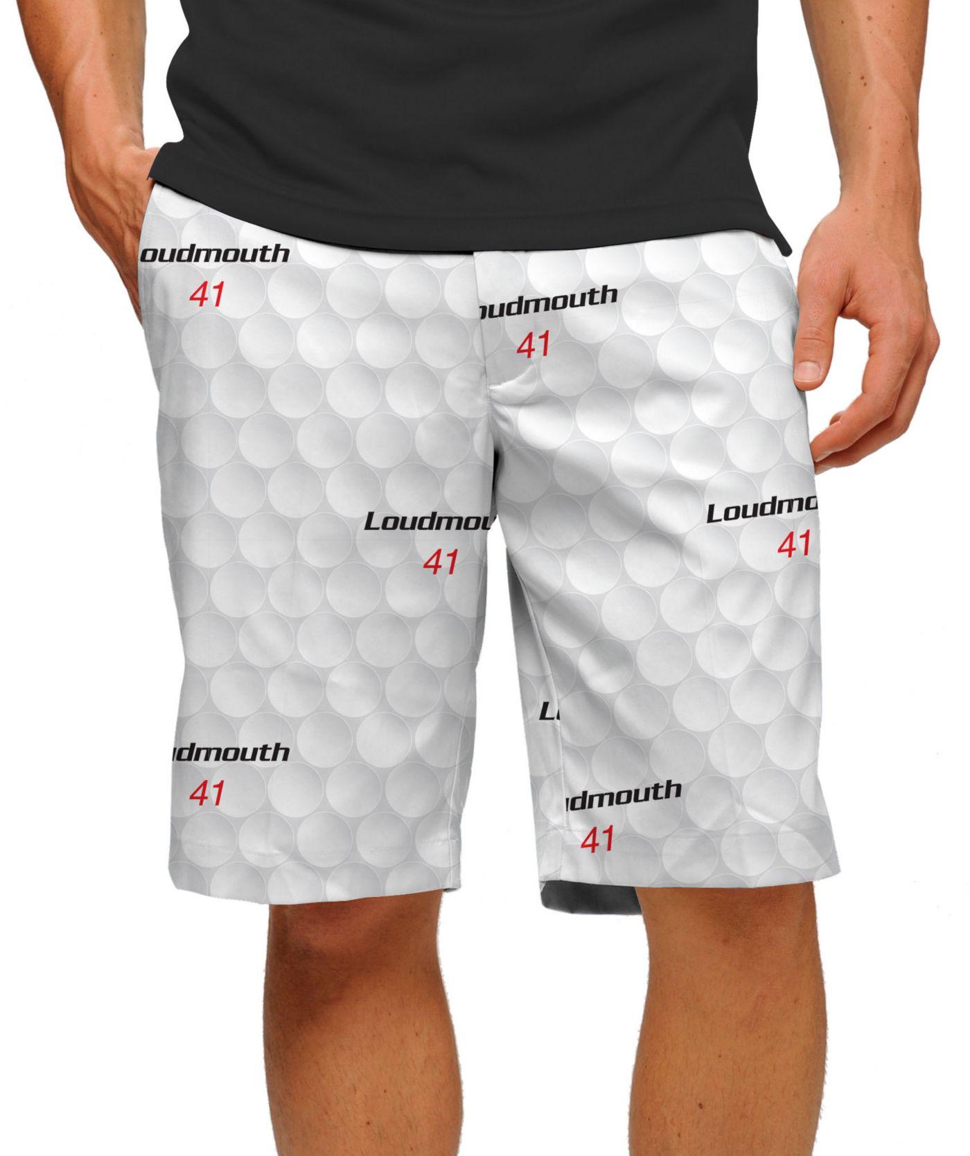 Loudmouth Men's Big Golf Ball Stretch Tech Golf Shorts