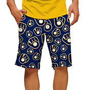 Loudmouth Men's Milwaukee Brewers Golf Shorts