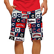 Loudmouth Men's Cleveland Indians Golf Shorts
