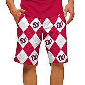 Loudmouth Men's Washington Nationals Golf Shorts