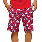Loudmouth Men's Texas Rangers Golf Shorts